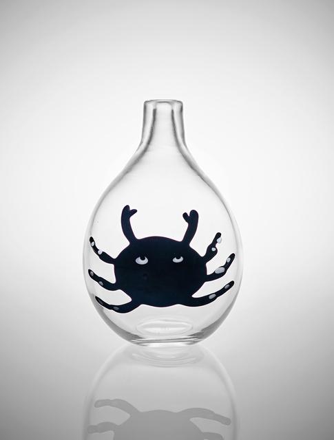 Fulvio Bianconi, 'Rare vase, model no. 4426', ca. 1950, Design/Decorative Art, Clear glass with applied coloured and lattimo glass decorations, iridescent surface, Phillips