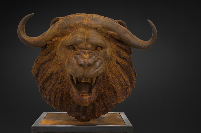 , 'Lion-Buffalo Head,' 2016, Cafmeyer Gallery
