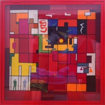 , 'Spacial Directory (Tapisserie de la Grande Cour au Palais de Justice de Chandigarh, 1954, le Corbusier),' 2017, Galeria Filomena Soares