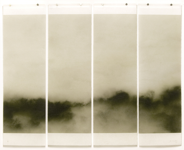 , 'Songs of the Sky No. 2 (4 Panel Photograph of Sky Japanese Kozo Paper/Encaustic),' 2018, Carrie Haddad Gallery
