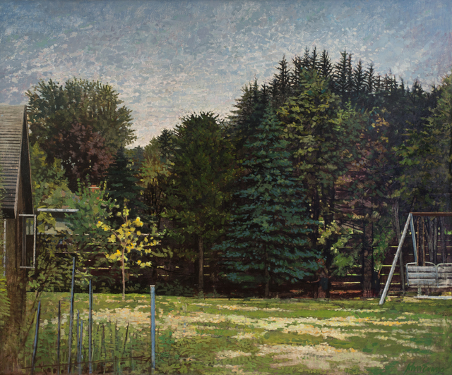 John Evans, 'Backyard', 1983, Painting, Oil on linen, Rago/Wright
