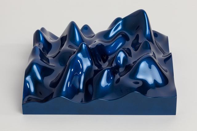 Peter Saville, 'Unknown Pleasure, Irodin 225, Rutile blue pearl on black background', 2015, Paul Stolper Gallery