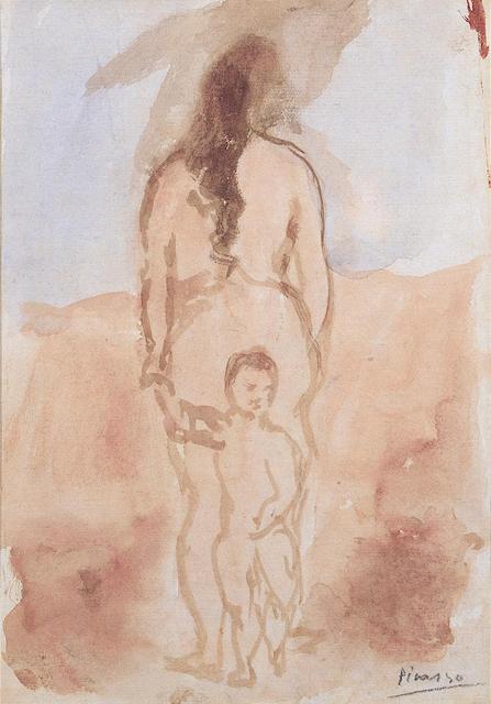 Pablo Picasso, 'Femme nue vue de dos avec enfant', 1906, Mirat