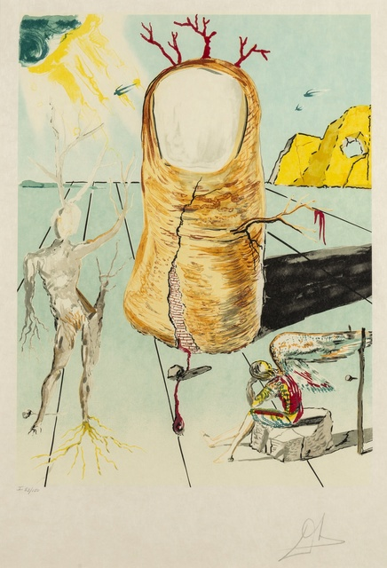 Salvador Dalí, 'The Vision of the Angel of Cap Creus (The Thumb) (M & L 1581; Field 80-8)', 1979, Print, Lithograph printed in colours, on Japon paper, Forum Auctions