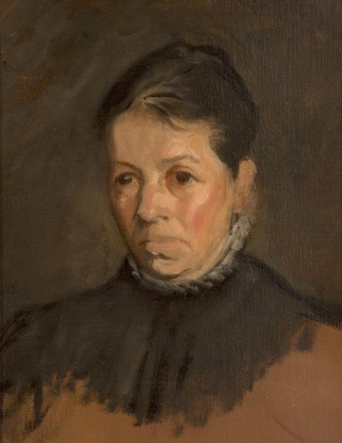 William Rothenstein, 'Bertha Rothenstein', ca. 1900, Painting, Oil on board, Ben Uri Gallery and Museum