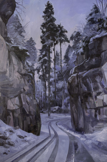 , 'Quarry Road Winter - Black Forest,' 2016, Flowers