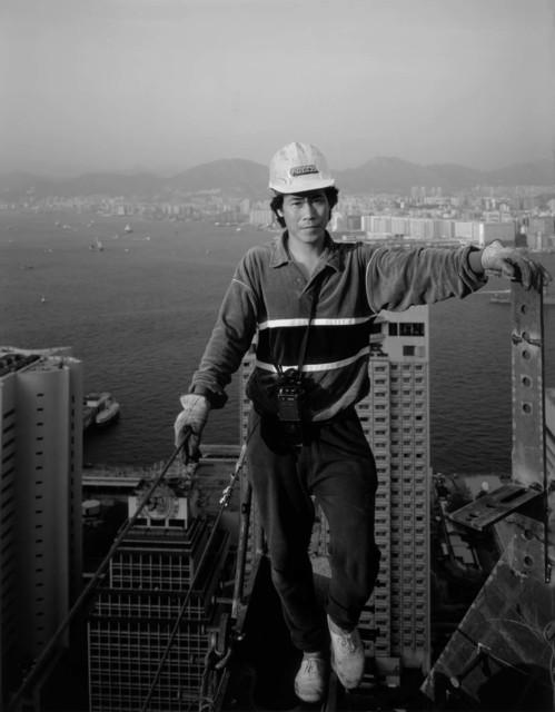 , 'High Steel Worker 34th Floor, Bank of China Building,' 1988, Pékin Fine Arts