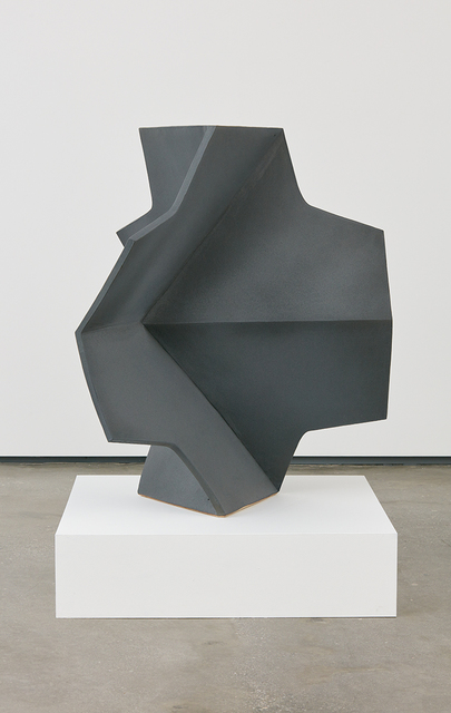 , 'Folded Cross Dark Grey,' 2014, David Kordansky Gallery