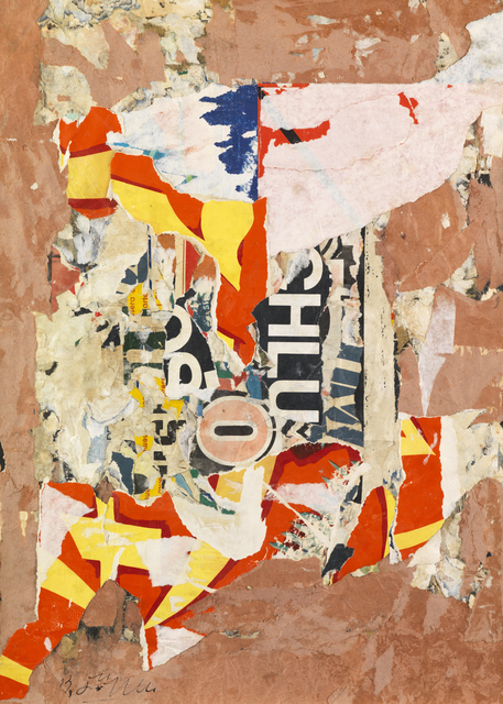 Reinhold Koehler, 'Plakat-Décollage 1957/3', 1957, Mixed Media, Mixed media on card, Whitford Fine Art