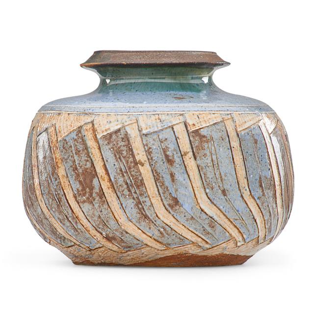 Marguerite Wildenhain, 'Vase with geometric decoration, Guerneville, CA', 1970s, Rago/Wright