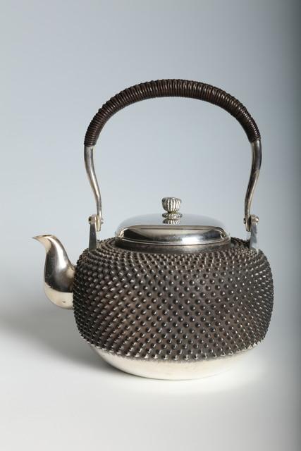 , 'Silver kettle with Hail-Pattern (T-4291),' Taisho era (1912, 1926), circa 1920, Erik Thomsen