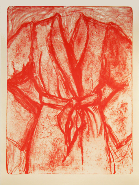 Jim Dine, 'Cream and Red Robe on a Stone', 2009, Print, One-Color Lithograph on Machine-made Okawara Paper, Tamarind Institute
