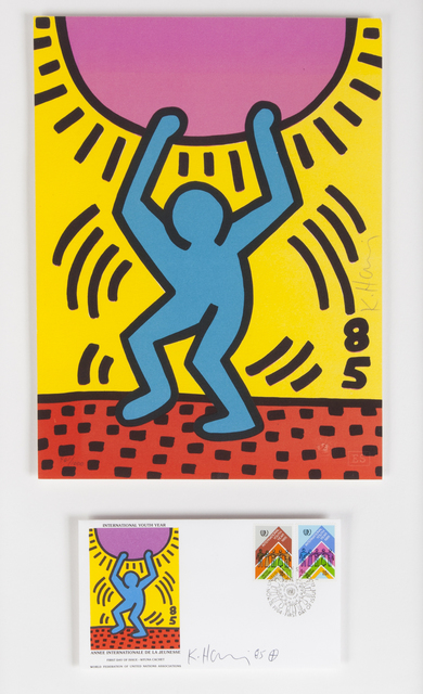 Keith Haring, 'International Youth Year, First Day Of Issue, WFUNA', 1984, Julien's Auctions