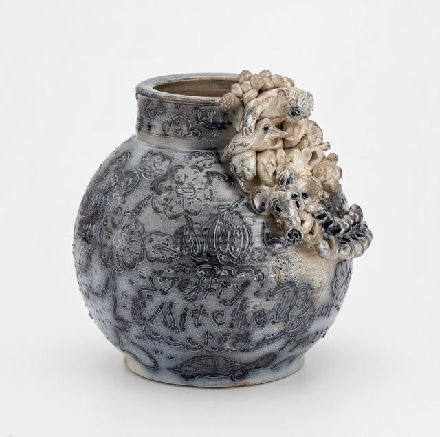 , 'Salt Fired Jar with Man and Bird,' 2015, PDX CONTEMPORARY ART