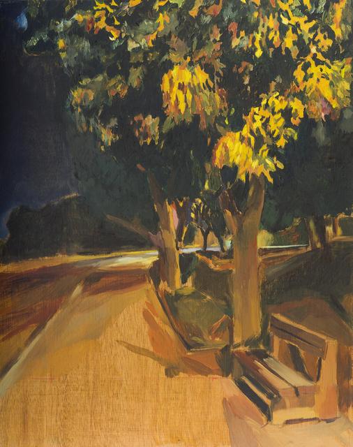 , 'A bench near the memorial at night 3,' 2014, Dvir Gallery