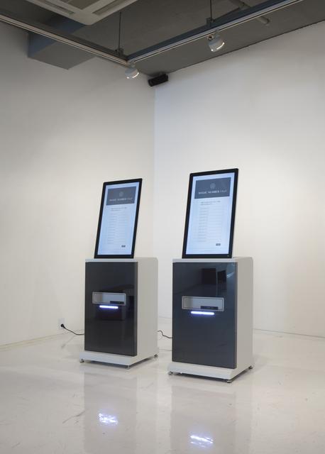 , 'Magic Number 11±1, survey kiosk,' 2018, ART MORA
