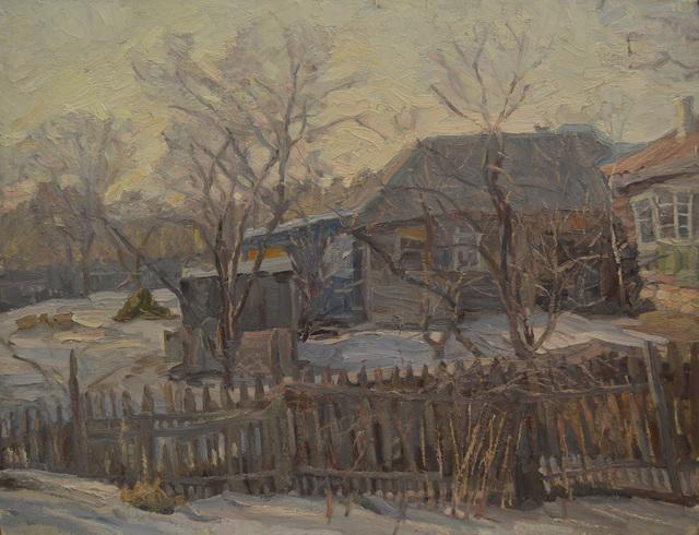 Lyudmila L´Vovna Skubko-Karpas, 'Our village', 1980, Surikov Foundation
