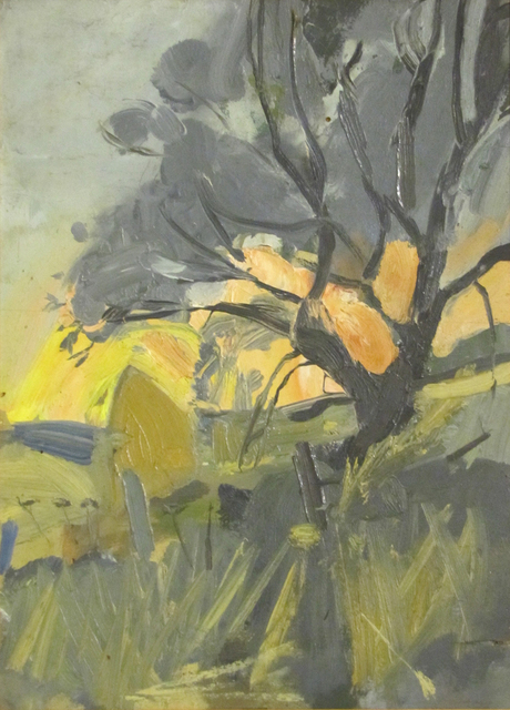 , 'Tree and Haystacks, Sunset,' 1957-1960, The Scottish Gallery
