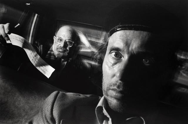 , 'Self-Portrait with Passenger Allen Ginsberg,' 1990, Bruce Silverstein Gallery