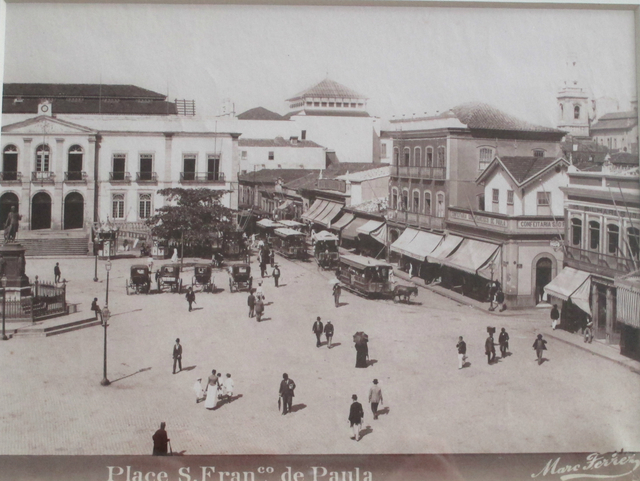 , 'Place São Francisco de Paula, Rio de Janeiro,' ca. 1885, Fólio Livraria