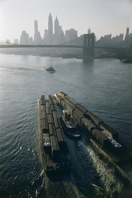 , 'Tugboat and barges, New York, USA,' 1953, David Hill Gallery