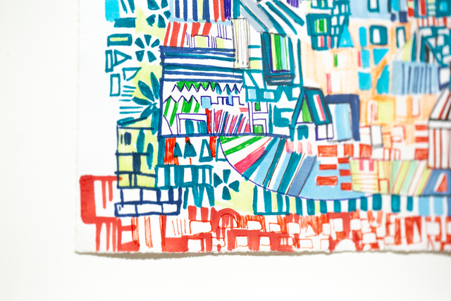 Miriam Singer, 'Baltimore Ave Map', 2019, Drawing, Collage or other Work on Paper, Pencil, marker, watercolor on paper, Paradigm Gallery + Studio