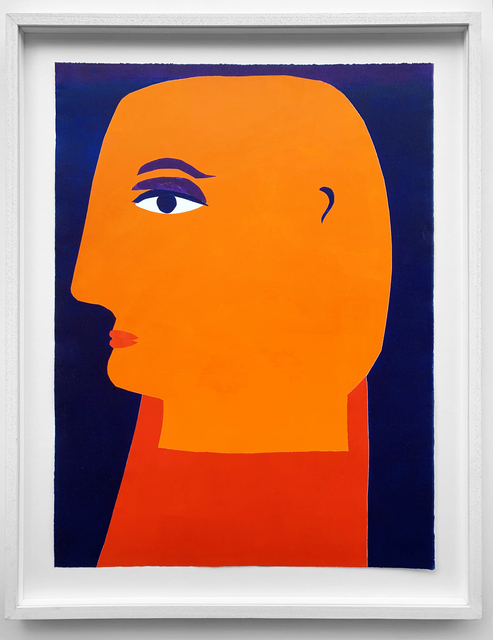 Kristiane Semar, 'Look of Love (Man)', 2019, Print, Printed from cutouts with oilbased inks (Charbonnel) on Zerkall Alt Bern 250 gms, Dreipunkt Edition