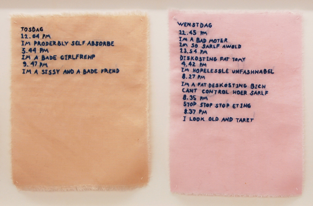 , ' Pink Slip #1 (Logbook Of Nigatif Thorts),' 2017, Galleri Tom Christoffersen