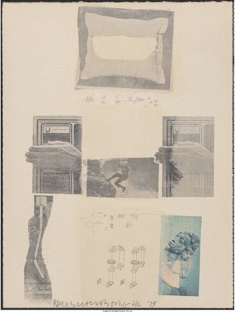 Robert Rauschenberg, 'Two Reasons Why Birds Sing, from Suite of Nine Prints', 1979, Print, Offset lithograph in colors on wove paper, Heritage Auctions