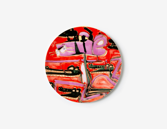 Katherine Bernhardt, 'The Acrobatic Dance Dinner Plate (1 plate)', 2019, Coalition for the Homeless Benefit Auction
