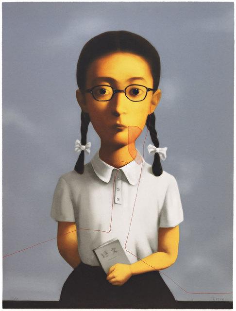 Zhang Xiaogang, 'Blood Line Series - Girl', 2006, Print, Lithograph, IFAC Arts