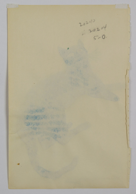 Andy Warhol, 'Purple Sam - from 25 Cats Named Sam and One Blue Pussy', 1954, Drawing, Collage or other Work on Paper, Lithograph with hand coloring on Ticonderoga paper, Capsule Gallery Auction