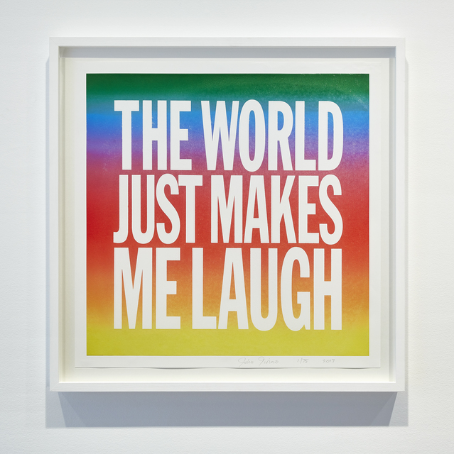 , 'THE WORLD JUST MAKES ME LAUGH,' 2017, Cahiers d'Art