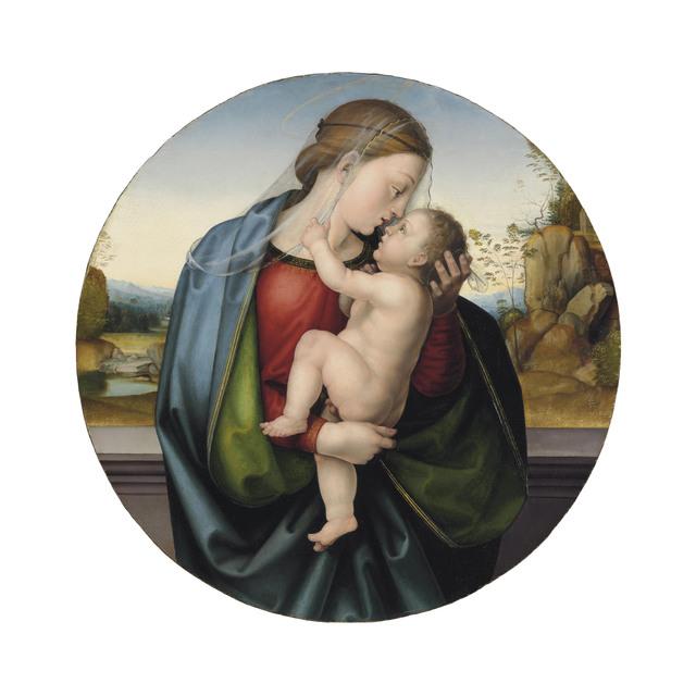 Baccio della Porta, called Fra Bartolommeo, 'The Madonna and Child', Painting, Oil on panel, a tondo in its original frame, Christie's Old Masters