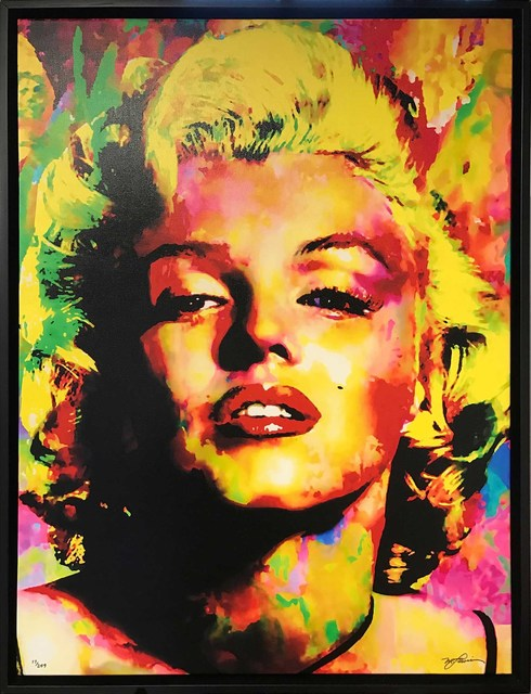 Mark Lewis (American, b. 1958), 'Limited Edition Giclee 'Relinquished Beauty - Marilyn Monroe' Celebrity Pop Art, Famous People Artwork', 2017, Fringe Gallery