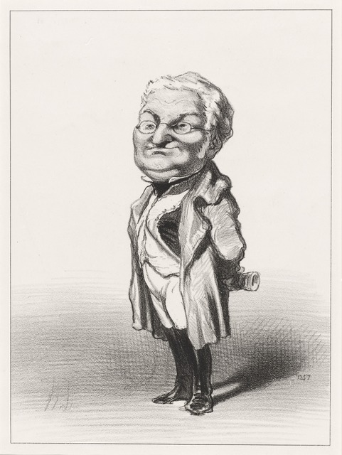 Honoré Daumier, 'Adolphe Thiers', 1848, National Gallery of Art, Washington, D.C.