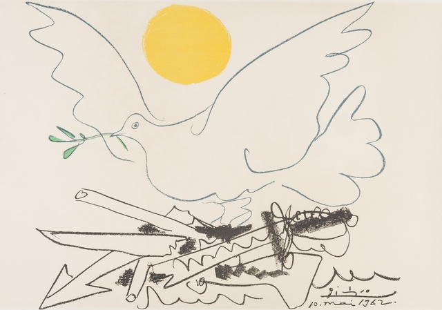 Pablo Picasso, 'Poster for World Congress for General Disarmament and Peace (Czwiklitzer 201)', 1962, Print, Offset lithograph printed in colours on Arches paper, Forum Auctions