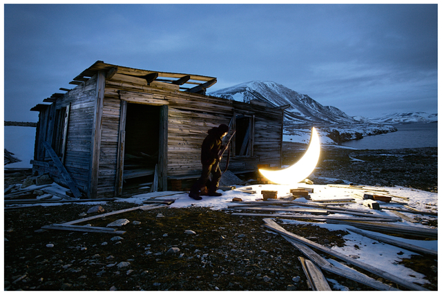 Leonid Tishkov, 'Private moon in the Arctic - Hunter and the Moon', 2012, Galerıe Blue Square
