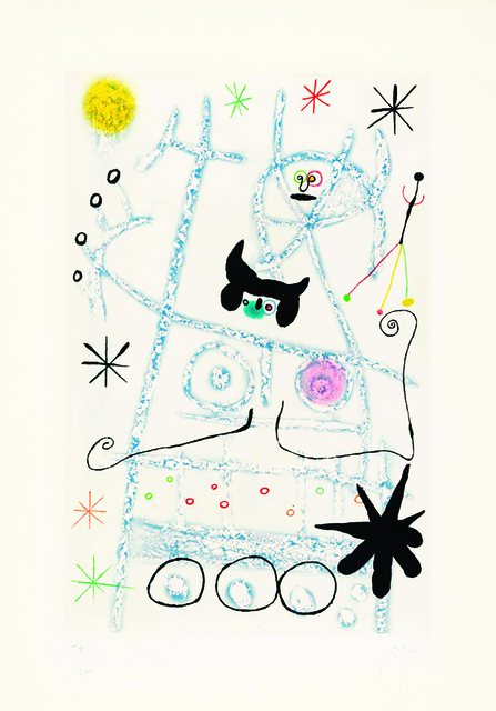 Joan Miró, 'Joan Miro, Les Forestiers (bleu), aquatint printed in colours, 1958, signed', 19588, Shapero Modern