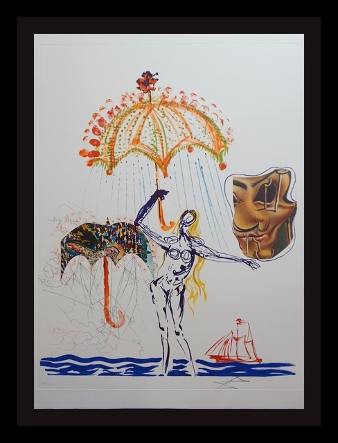 Salvador Dalí, 'Imaginations & Objects of The Future Anti-Umbrella with Atomized Liquid', 1975, Print, Etching, Fine Art Acquisitions Dali