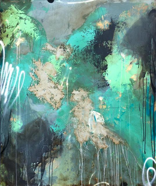Luis Garcia-Nerey, 'Urban Meadow', 2017, Painting, Mixed media on panel with resin finish, Cheryl Hazan Gallery
