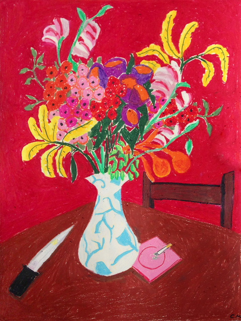 , ' Flowers and Knife,' 2017, Projet Pangée