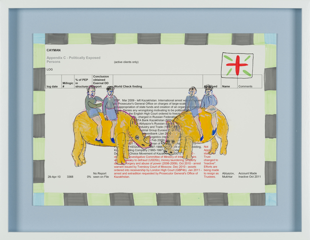Carla Busuttil, 'Rhino Tour', 2019, Drawing, Collage or other Work on Paper, Mixed Media on Paper, Goodman Gallery