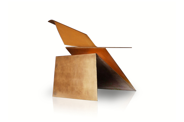Philip Michael Wolfson, 'Gold Origami Chair', 2007, Sculpture, Steel finished with 24-karat gold leaf