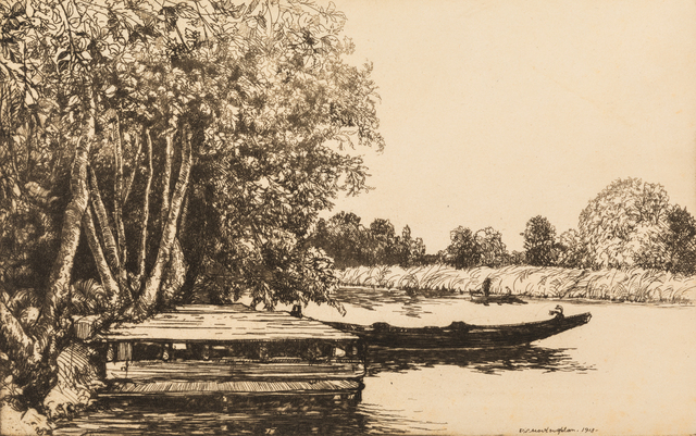 Donald Shaw MacLaughlan, 'A Group of Twelve Works: Gwinnear Fields, Olive Groves, On the Loing, Midnight, Venice, River Song No. 3, River Song No. 4, Road Song No. 3, The Rushing Tide on the Thames, Summer Morning in Tennessee, Sussex Days, Trees and Reflections, and Twilight Waters', Print, Etchings, Hindman