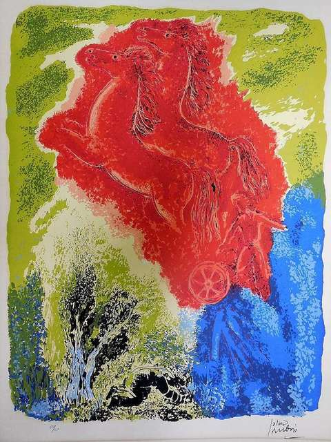 Reuven Rubin, 'CHARIOT OF FIRE  signed numbered LITHOGRAPH', 20th Century, Lions Gallery
