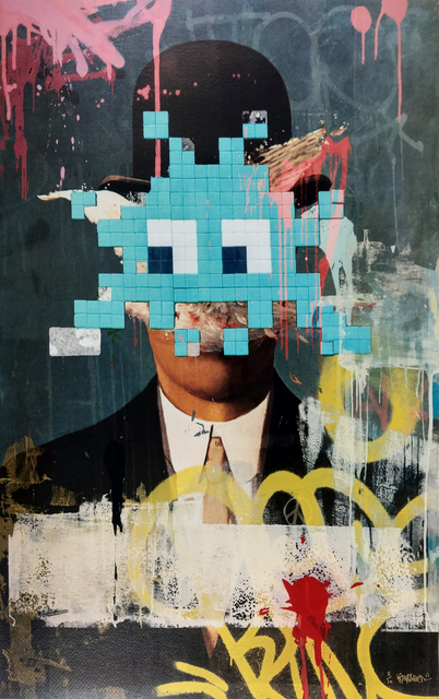 Kenny Random, 'Invader Portrait', 2018, Print, Heavily Hand Embellished Giclee Prints, New Union Gallery