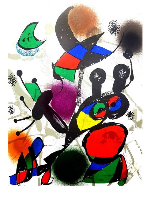 Joan Miró, ' Joan Miró - Original Abstract Lithograph', 1976, Galerie Philia
