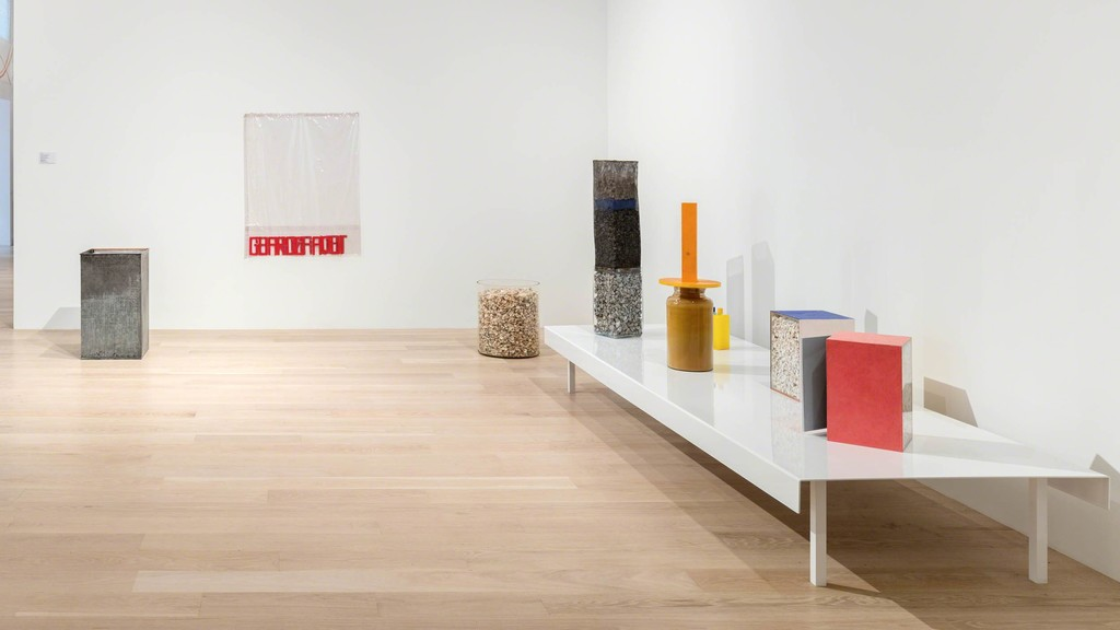 "Installation view: Hélio Oiticia, ""Bólides"" at Institute of Contemporary Art, Miami. Photo: Fredrik Nilsen Studio."