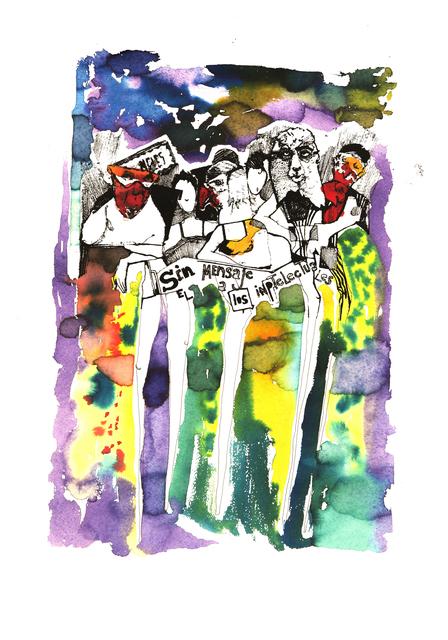 Frank David Valdés, 'Runway', 2017, Painting, Mixed media on paper, ArteMorfosis - Cuban Art Platform